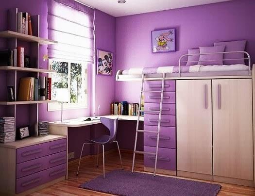 موقع لوامع: ديكور غرف نوم للبنات باللون البنفسجي