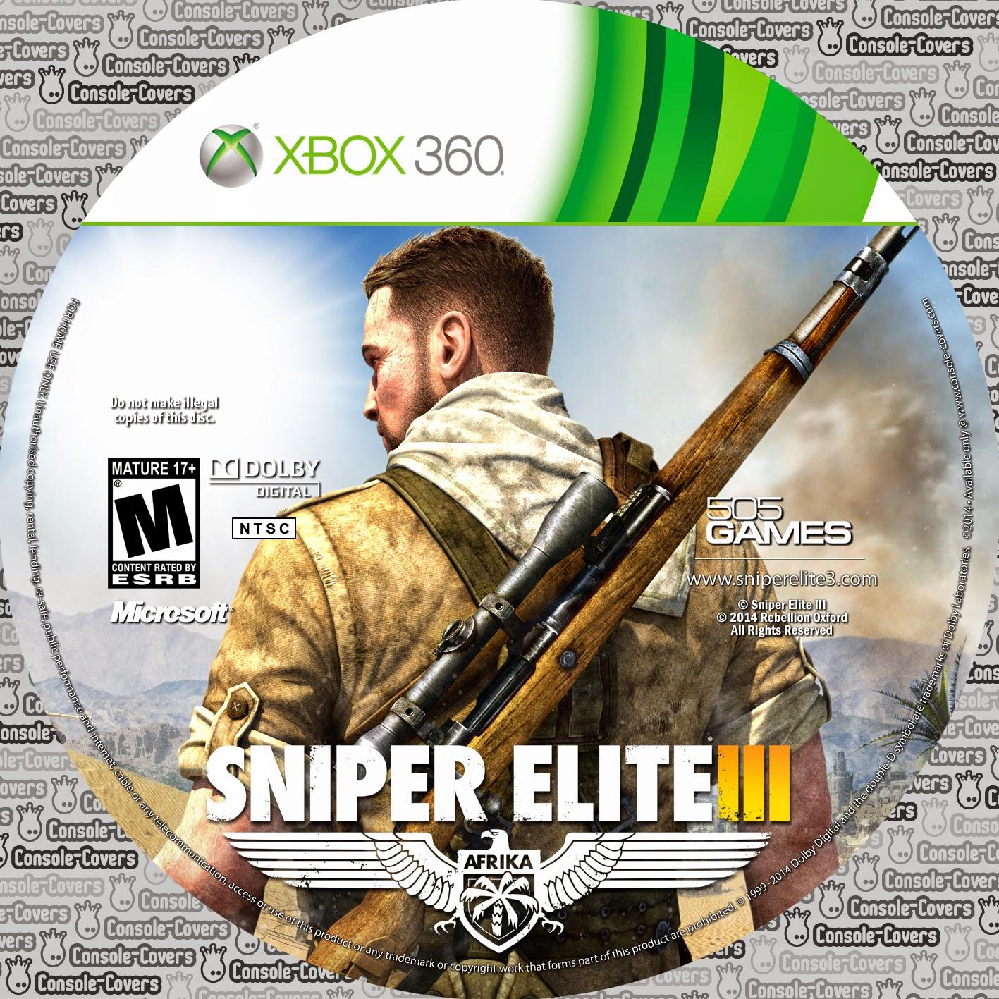 Capa Sniper Elite 3 XBOX 360