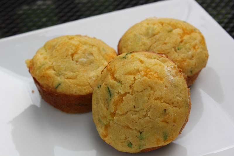THE BUSY MOM CAFE: Zucchini Cheddar Corn Muffins