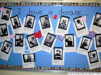 A great bulletin board idea for students to share what their dreams are for the future