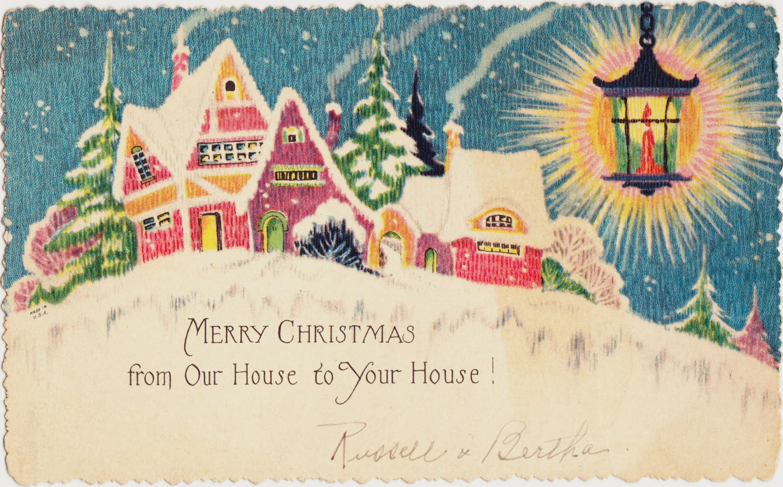 holiday postcards Vintage