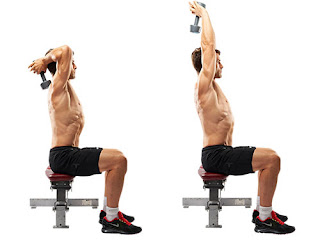Tricep Overhead Dumbbell Extension