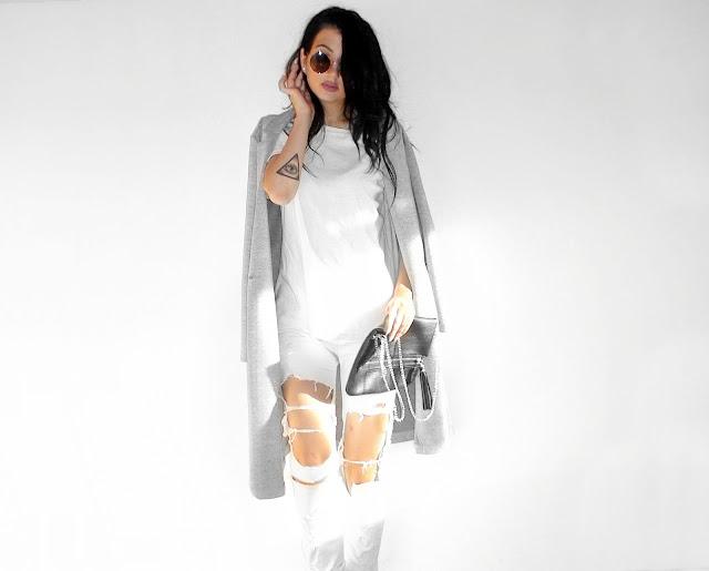 white grey outfit ideas