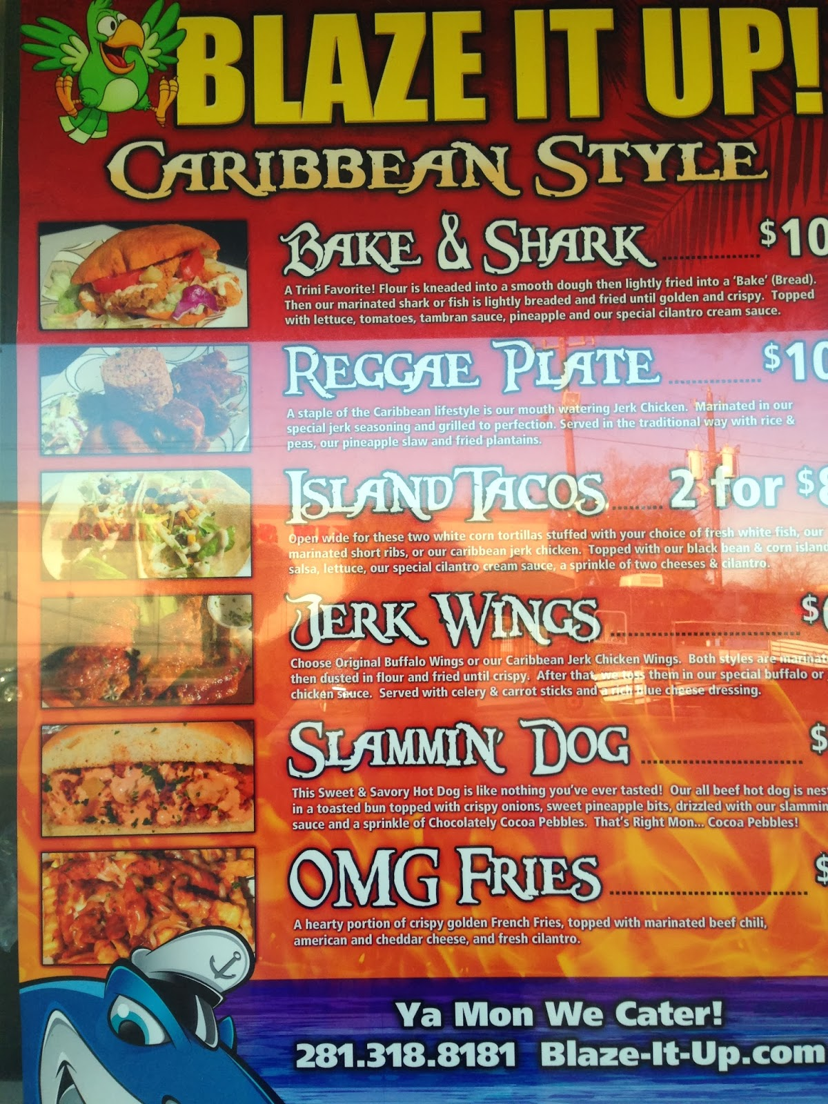 Blaze it Up!, Food Truck Houston TX menu