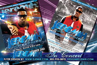 Jeremih Concert Flyer Design Gothic Theater Denver