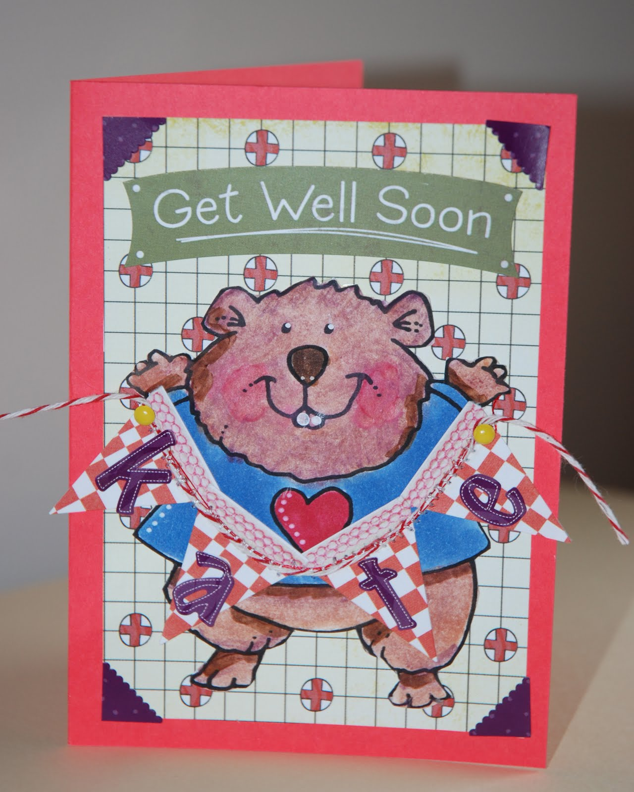 Cardmonkey Wishes A Get Well To Kate Crafty Card Gallery