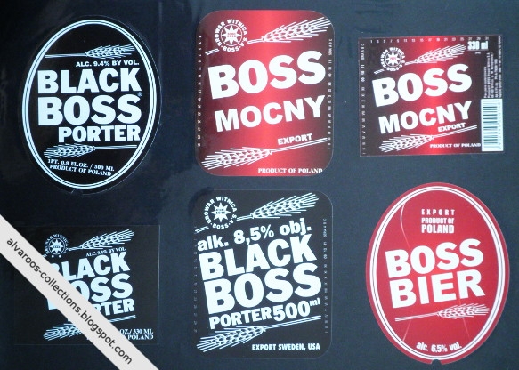 Beer labels collection: Boss