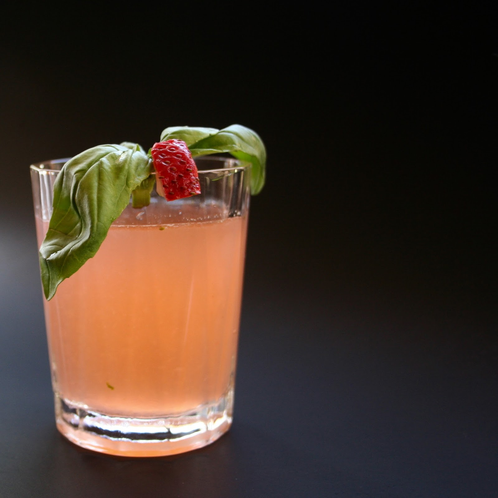 Spiked Strawberry Basil Lemonade