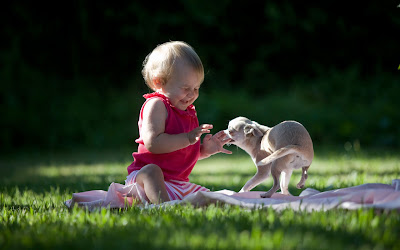 lovely kid and pet pictures