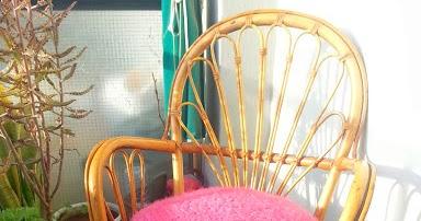 La ventana azul 98 coj n redondo a crochet stash - Cojin redondo silla ...