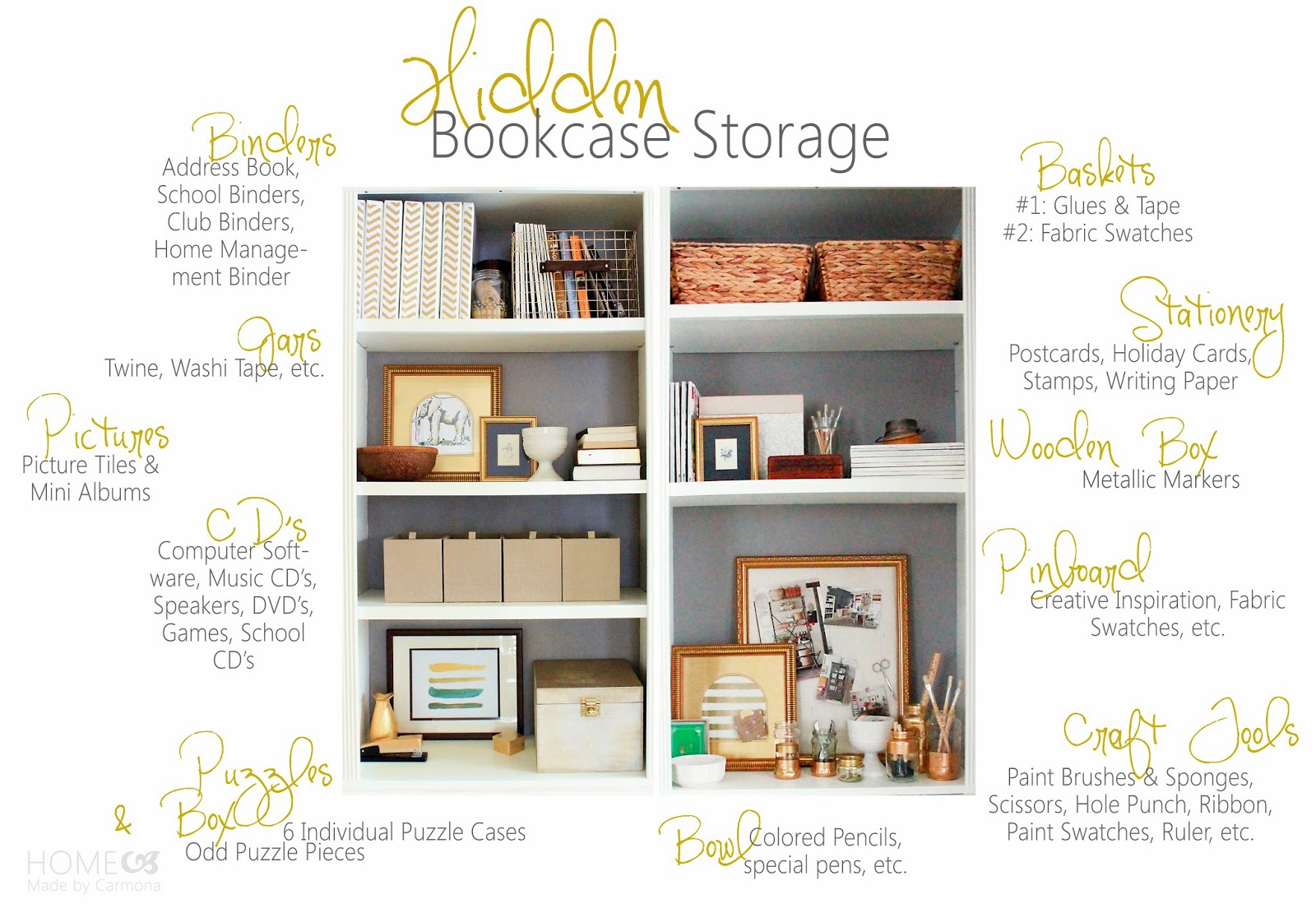 Amazing photo of Little Bookcase Styl'in {& A Big Makeover} Home Made by Carmona with #965D35 color and 1600x1110 pixels