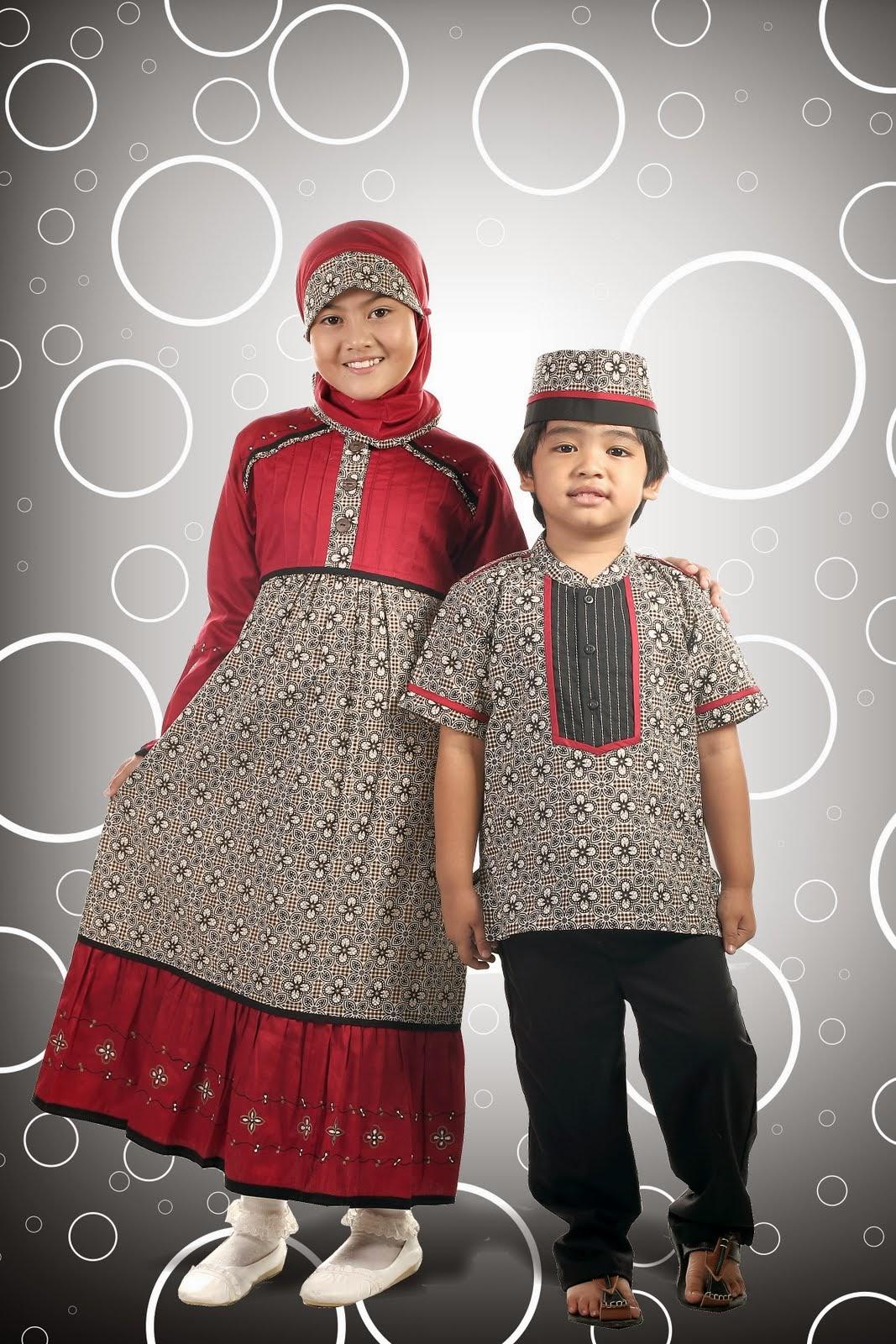 Contoh Model Baju Batik Muslim Anak Terbaru 2017  Model Baju