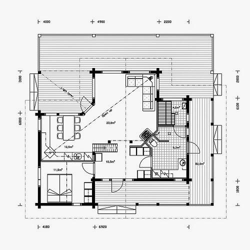 Planos de casas gratis plano casa campo 100 m2 for Plano casa campo