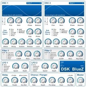 DSK BlueZ - Mais um Plugin VST Synth da DSK