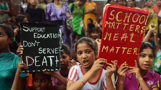 Indian Children Forced To Eat Poisoned School Meal