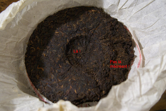 thé en galette : Pu Erh