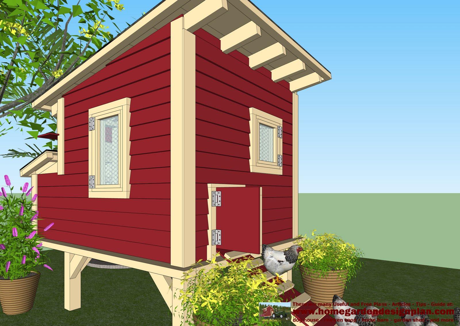 Home garden plans m300 chicken coop plans chicken for Chicken ark plans free download