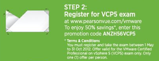 VMware voucher ANZH65VCP5 - 50% off!