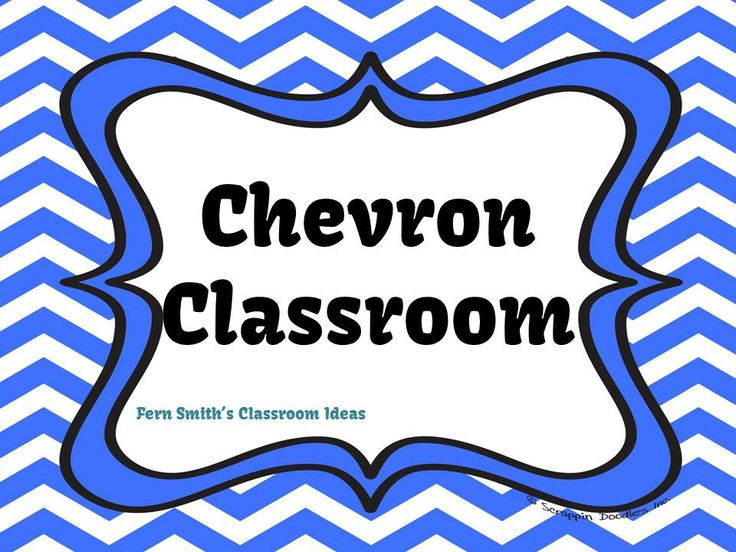 Fern Smith's Classroom Ideas Chevron Classroom Pinterest Board.