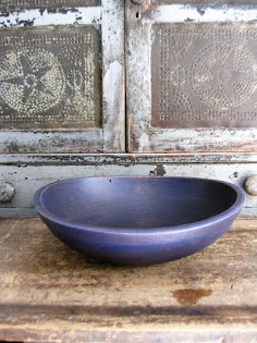 big old bowl, all Quaker Blue