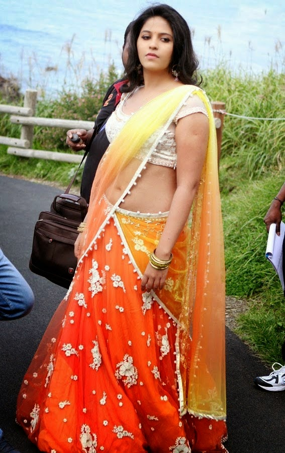 Actress Anjali Latest Hot Sexy Navel Show Pics In Saree