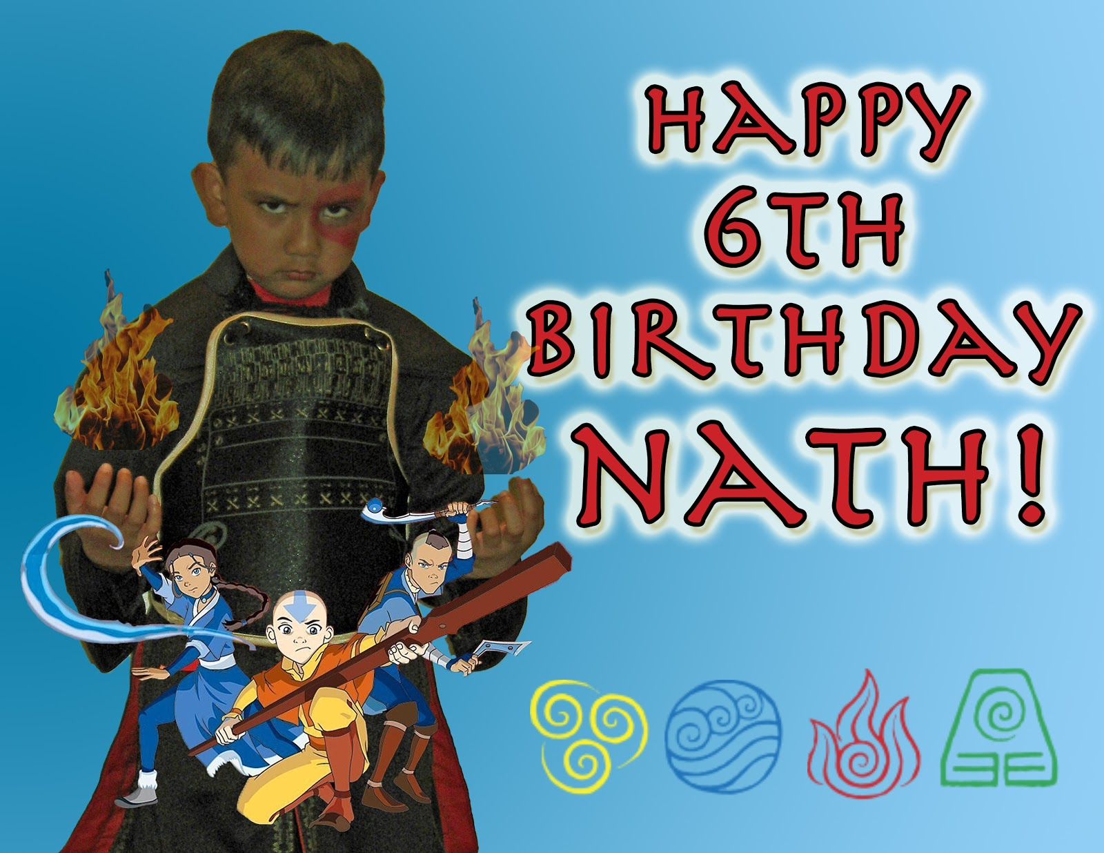 Cheng and 3 Kids Nath s Avatar The Last Airbender Themed 6th