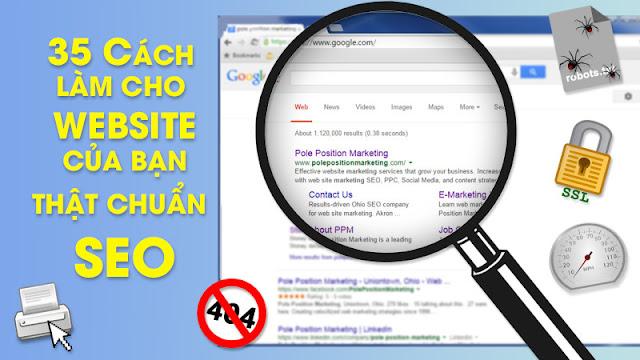 Các cách tối ưu web thật chuẩn SEO