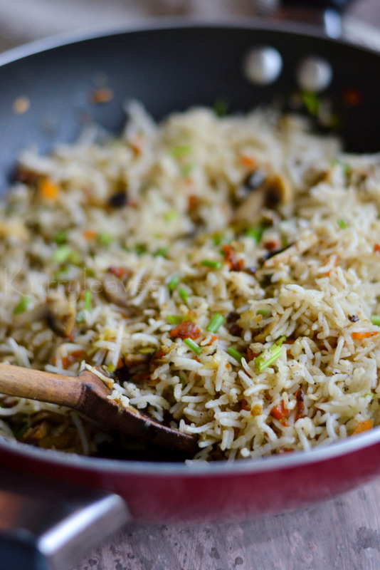 mushroom fried rice Chicken fried rice this is an easy weeknight meal made on the stovetop made  with chicken, eggs, onions, carrots, peas, and rice.
