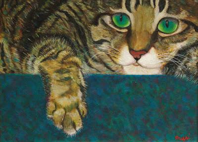 油彩 猫の絵