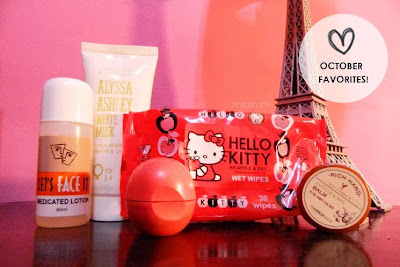 october favorites beauty skin care routine lotion toner best top seller nail cuticle balm the face shop hello kitty eiffel tower eos lip balm wipes review blog post comment image photo