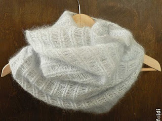 knitted silk mohair cowl smoke icicle