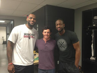 LeBron James, Rory McIlroy and Dywane Wade