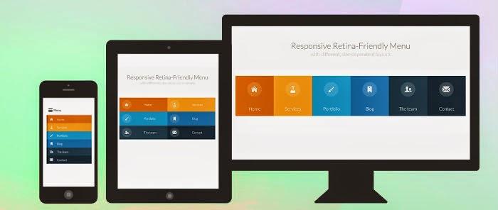 Responsive retina-friendly menu