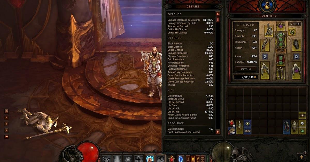 Diablo  Monk Build Inferno Solo