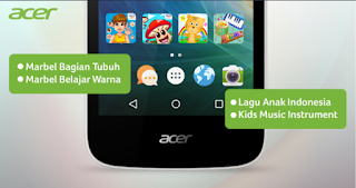 Acer Liquid Z320 dengan fitur Kids Center