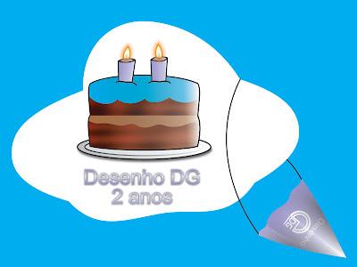 Aniversário de dois anos do blog Desenho DG (ilustração)