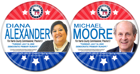 Diana Alexander and Michael Moore are in the Runoff for Commissioner Precinct 3