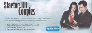 Promo pendaftaran distributor K-Link suami istri