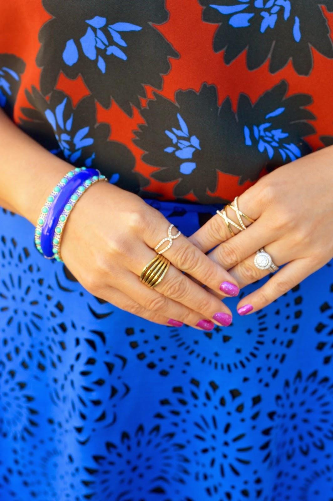 BaubleBar Crystal Mason Ring, Ann Taylor Linnear Rng