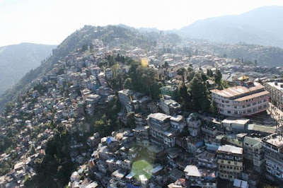 construction of buildings in the landslide-prone Darjeeling hills
