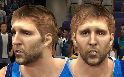 NBA 2K13 Dirk Nowitzki Cyberface Mod