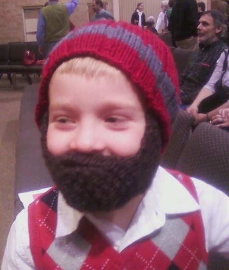 Prayer Shawl Patterns Free Knit : MelLotti: Beard Hat for Kids