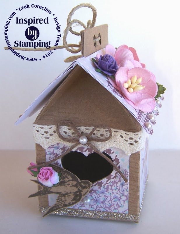 Inspired by Stamping, Leah Cornelius, Birdhouse, Vintage Birdhouse, Spring Lilacs Stamp Set, Spring Lilacs Paper Pad