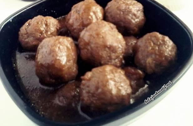 Gambar resep lezat semur bola-bola daging
