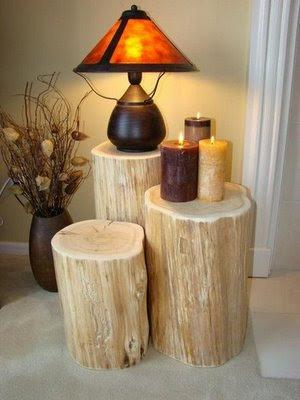 Bricolage e decora o ideias para usar troncos de rvores - Troncos de madera para decorar ...