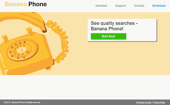the screenshot of Banana Phone