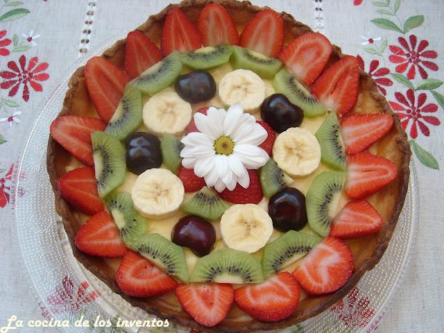La cocina de los inventos tarta de frutas con crema - Cocina con paco ...