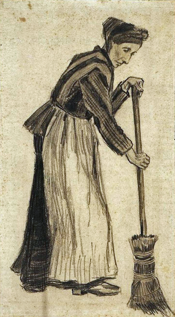 art artists vincent van gogh drawings part 2 1882 w a broom pencil and watercolour on paper