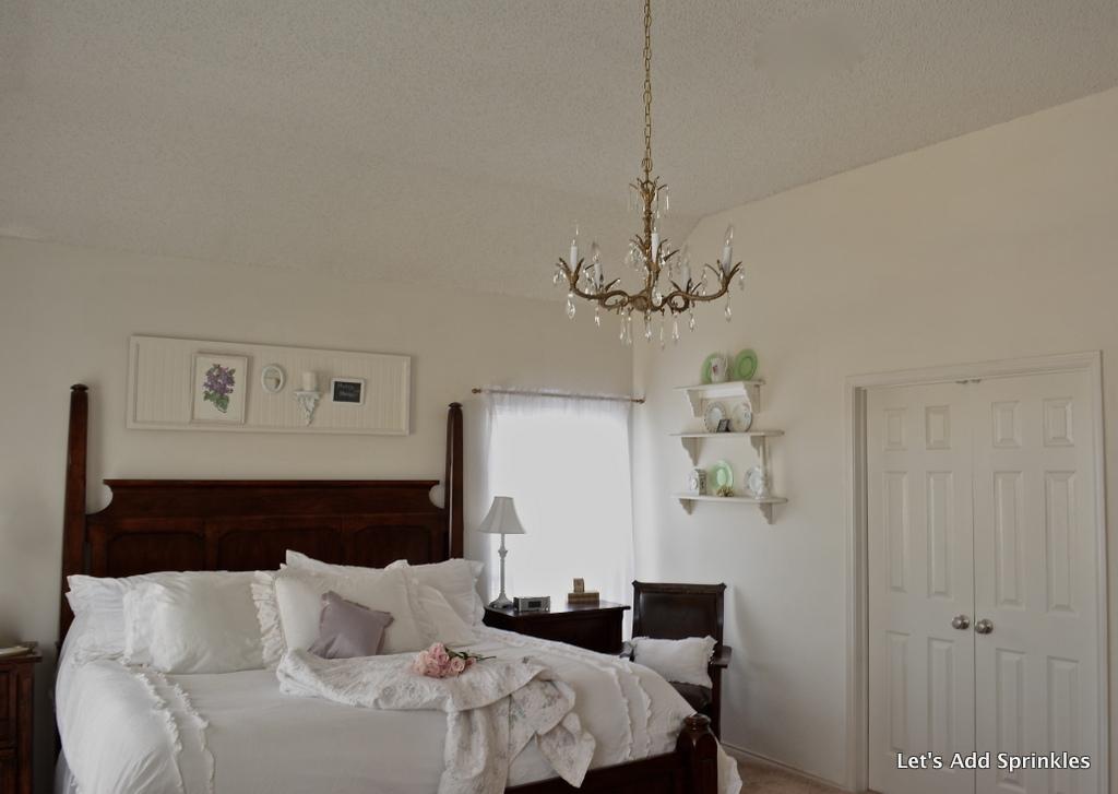 Let 39 s add sprinkles master bedroom chandelier for Master bedroom chandelier
