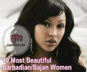 Top 10 Most Beautiful Barbadian/Bajan Women